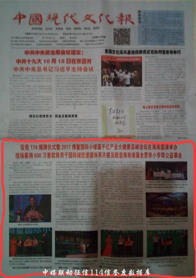 中国现代文化报